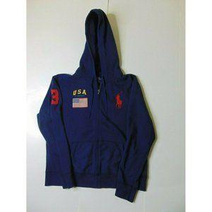 Polo Ralph Lauren XL Zip Hoodie Sweatshirt Blue